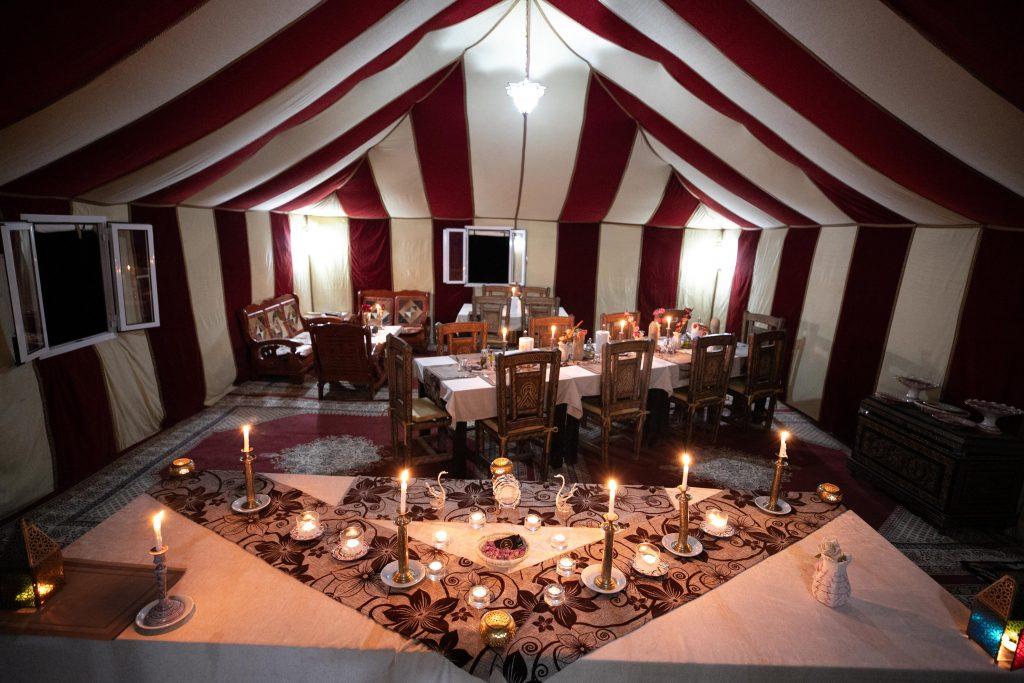 Dunes Luxury Camp Dinning big Tent
