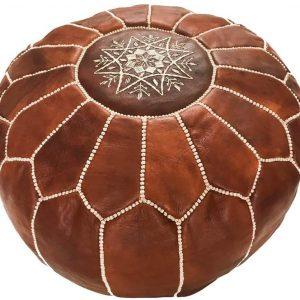 the moroccan pouf made from leather - your morocco shop