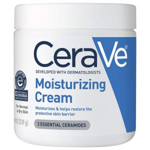 CeraVe Moisturizing Cream Body and Face Moisturizer for Dry Skin Body Cream with Hyaluronic Acid, Niacinamide, and Ceramides 19 Ounce